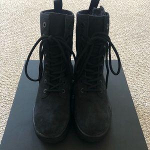 Season 6 Suede Combat Boots in Graphite Size 40